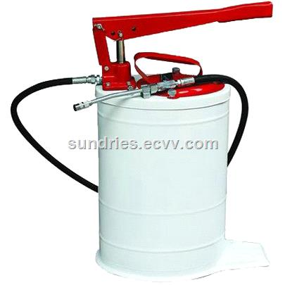 Hand Operated Oval Bucket Oil Pump Gear Lube Dispenser - 20L