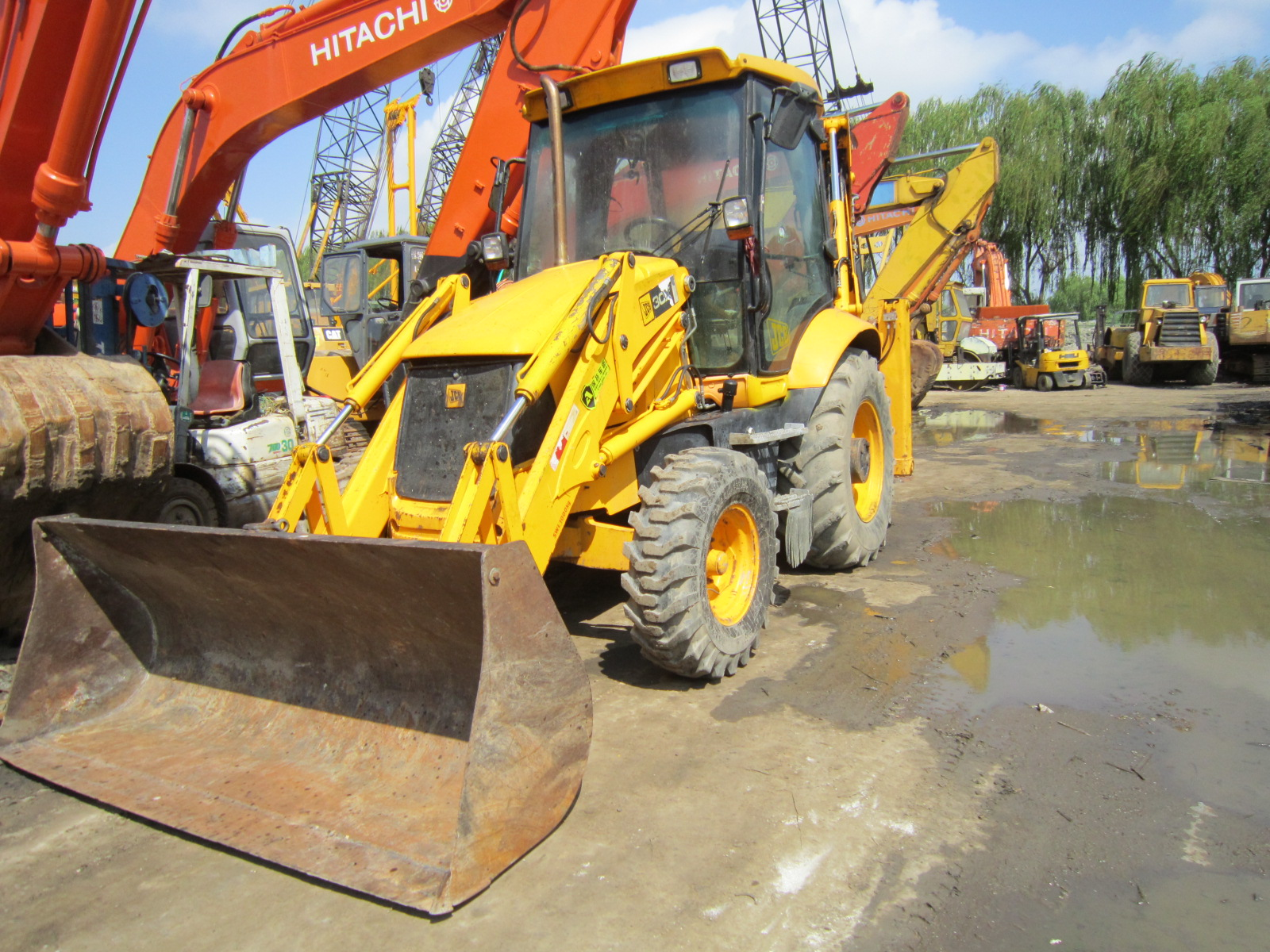 Lower Working Hours Used Original Jcb 3cx 4cx Backhoe Loader for Sale with Good Condition