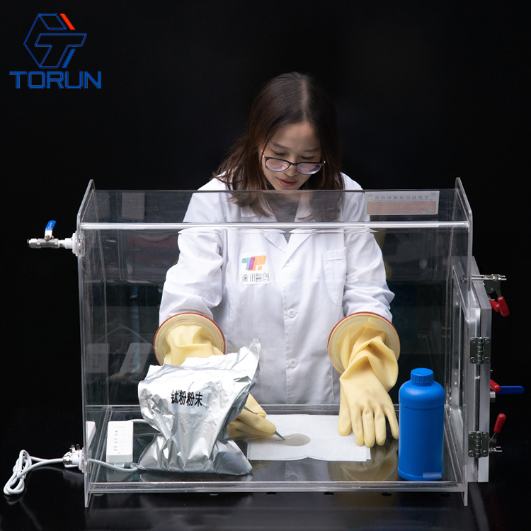 Laboratory Benchtop Transparent PMMA Acrylic & Plexiglass Vacuum Glove Box Isolator Price for Lab Research