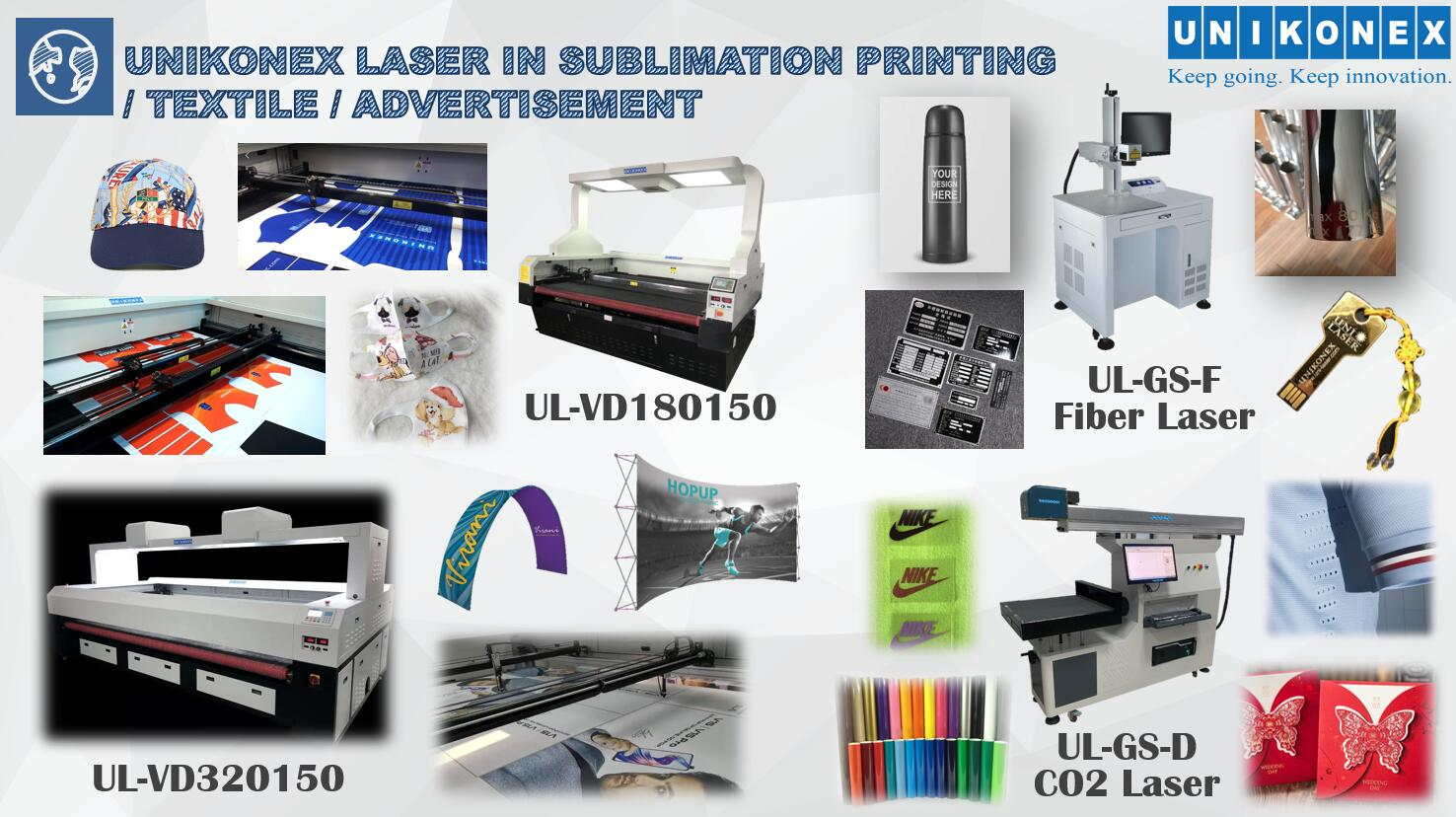 Use Laser Widely in Sublimation Printing, Textile & Metal Fields