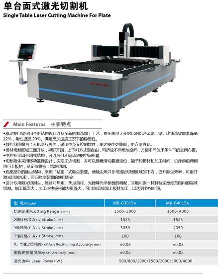 Sheet Metal Gantry Laser Cutting Machine