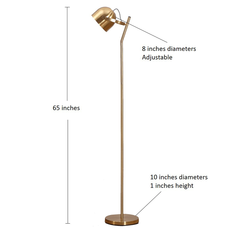 Adjustable LED Light, Modern Brass Pharmacy LED Floor Lamp, 3-Way Dimmable Touch Switch